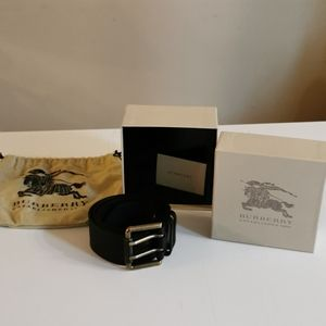 Burberry Leather Belt, 85 EU, NWOT, Black